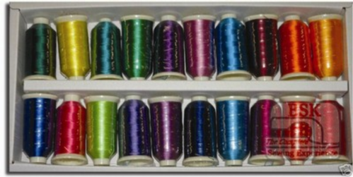 Marathon Embroidery Rayon Thread Box of 20 x 1000mtr Spools  Brights